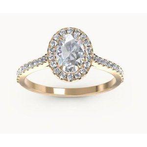 Oval and round cut CVD 2.30 carats diamonds Weddin